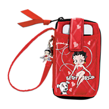 Betty Boop Quilted Wristlet Wallet With Sculpted Charm
