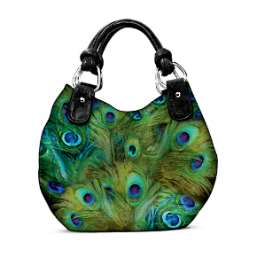 Mindy Sommers Pretty As A Peacock Shoulder Bag