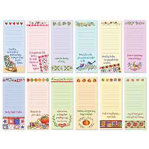 Quilts & Quotes Lined Magnetic Seasonal to Do Notepads