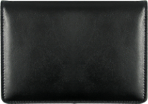 Black Top-Stub Leather Checkbook Cover