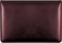Burgundy Top-Stub Leather Checkbook Cover