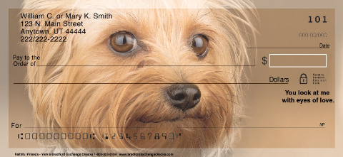 Faithful Friends - Yorkie Personal Checks