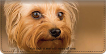Faithful Friends - Yorkie Checkbook Cover