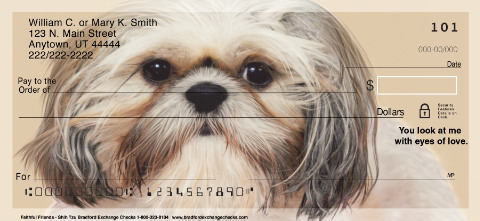 Faithful Friends - Shih Tzu Personal Checks