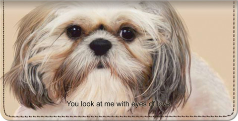 Faithful Friends - Shih Tzu Checkbook Cover
