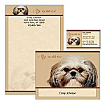 Shih Tzu Lover's Personalized Stationery