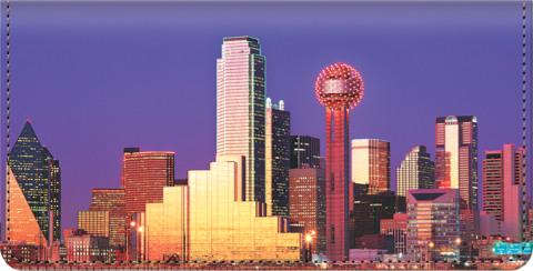 City Skylines - Dallas Checkbook Cover