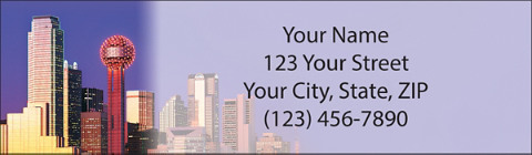 City Skylines - Dallas Return Address Label