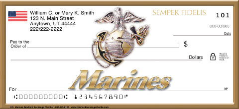 U.S. Marines Personal Check Designs