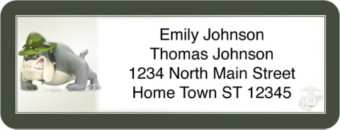 U.S. Marines Return Address Label