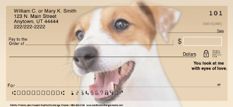 Faithful Friends - Jack Russell Personal Checks