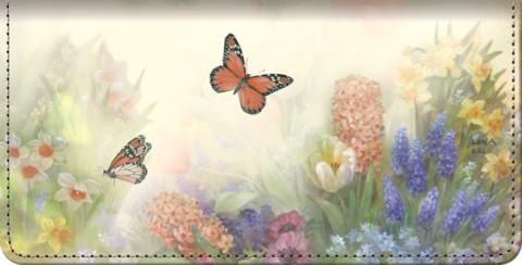Lena Liu's Butterfly Gardens Checkbook Cover