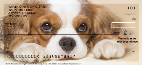 Faithful Friends Cavalier King Charles Spaniel Personal Checks