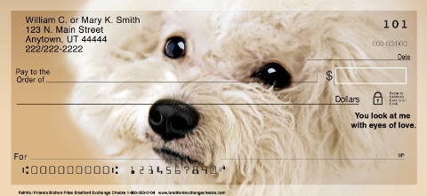 Faithful Friends Personal Checks - Bichon Frise