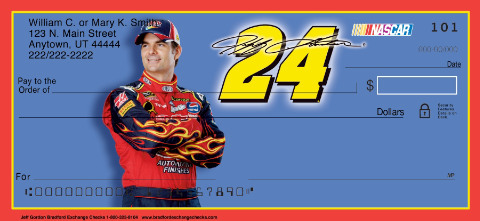 Jeff Gordon Personal Checks