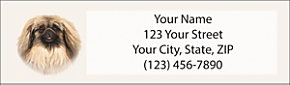 Pekingese Return Address Label