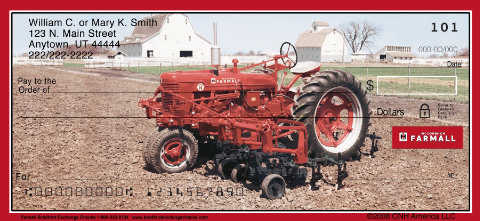 Farmall Personal Check Designs