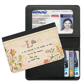 Live, Laugh, Love, Learn Debit Card Holder