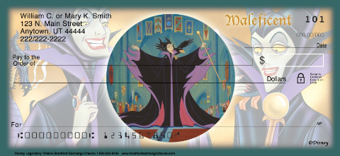 Disney Legendary Villains Personal Check Designs
