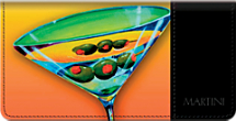 Martini Time Checkbook Cover