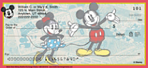Sketch Book Mickey Personal Checks