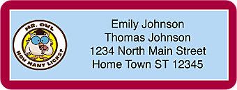 Tootsie Roll Return Address Label