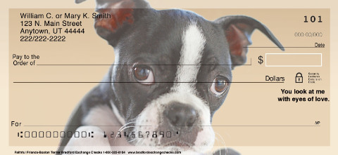 Faithful Friends Boston Terrier Personal Checks