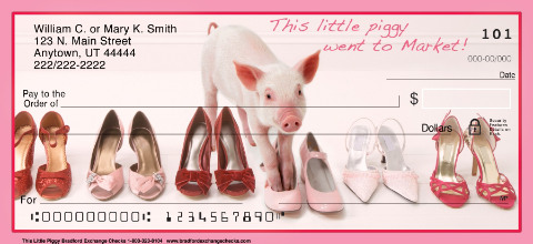 This Little Piggy Personal Check Designs