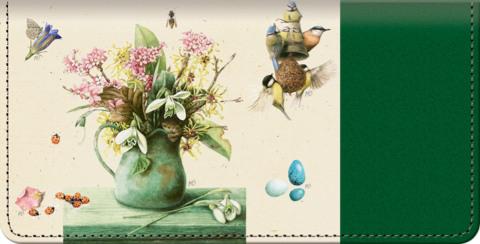 Marjolein's Garden Checkbook Cover