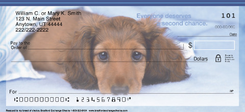 Rescued is My Breed of Choice Personal Checks