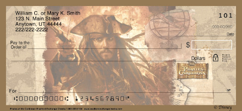Pirates of the Caribbean Personal Check Designs