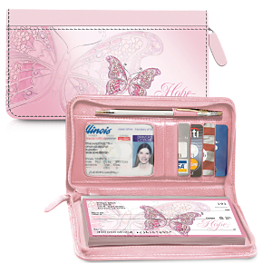 breast cancer awareness checkbook covers