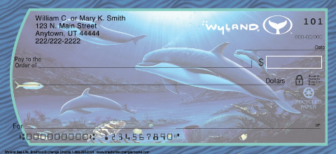 Wyland Sea Life Whales Dolphins Turtles Personal Check Designs