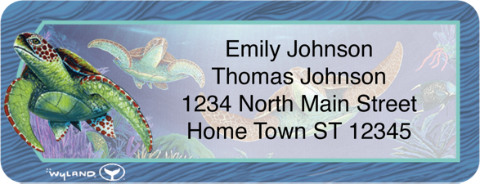 Wyland Sea Life Return Address Label