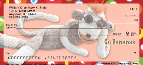 Sock Monkey Personal Checks