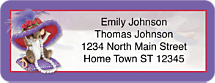 Charming Tails Hat-titude Address Labels