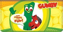 Gumby Checkbook Cover