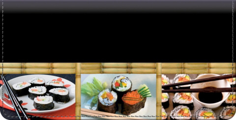 Sushi Bar Checkbook Cover