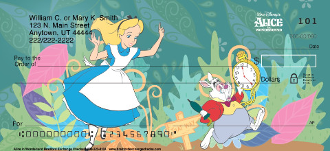 Alice In Wonderland Personal Checks