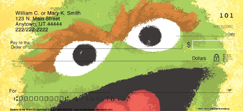Sesame Street Personal Checks