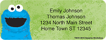 Sesame Street Return Address Label