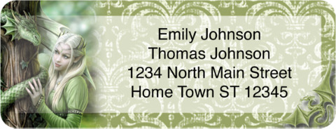 Gothic Princess Return Address Label