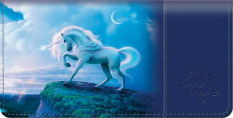 Unicorn Checkbook Cover