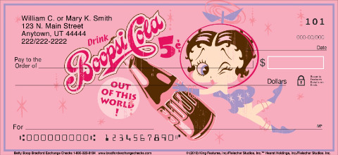 Betty Boop Personal Check Designs