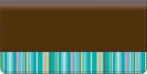 Stripes Checkbook Cover