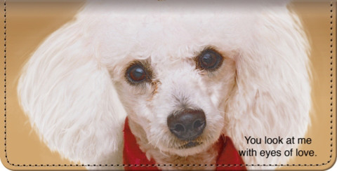 Faithful Friends Poodle Checkbook Cover
