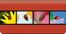 Lady Bug Luck Checkbook Cover