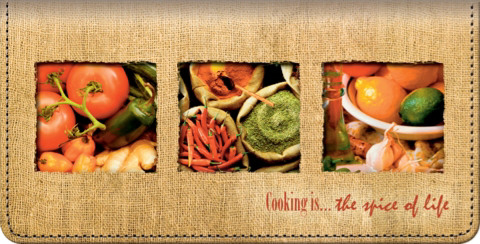 Cooking is...the Spice of Life Checkbook Cover