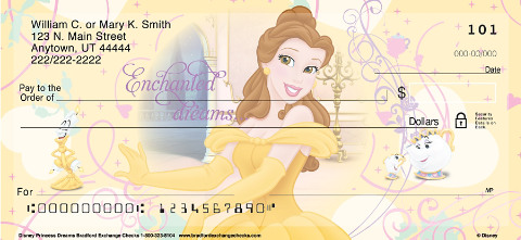 Disney Princess Dreams Personal Check Designs