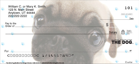 THE DOG - Pug Personal Check Designs